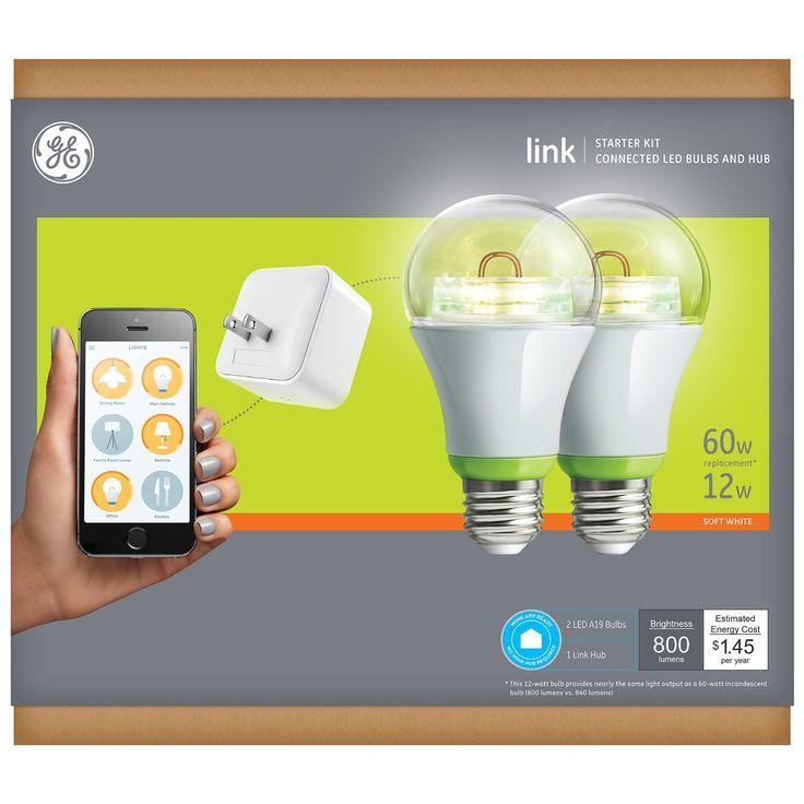 GE Link Smart LED Light Bulb, A19 Soft White (2700K), 60-Watt Equivalent, 1-Pack, Zigbee, Works with Amazon Alexa - - Amazon.com