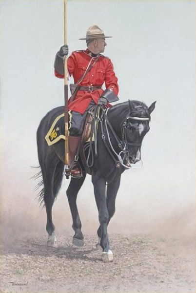 """ RCMP RIDER ""  Brent Townsend"