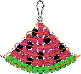 Free watermelon pony bead pattern - swap idea