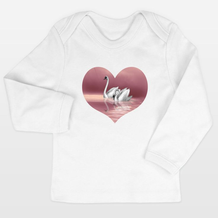Shop for unique nursery art like the Swan Infant Long-Sleeve T-Shirts by haroulita on BoomBoomPrints today!  Customize colors, style and design to make the artwork in your baby's room their own!