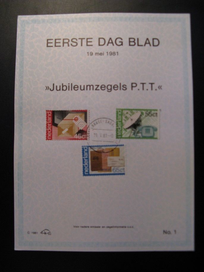 Eerstedagblad 1,2,3 Visje: Groningen Filatelische Dienst EDB 19-5-1981...