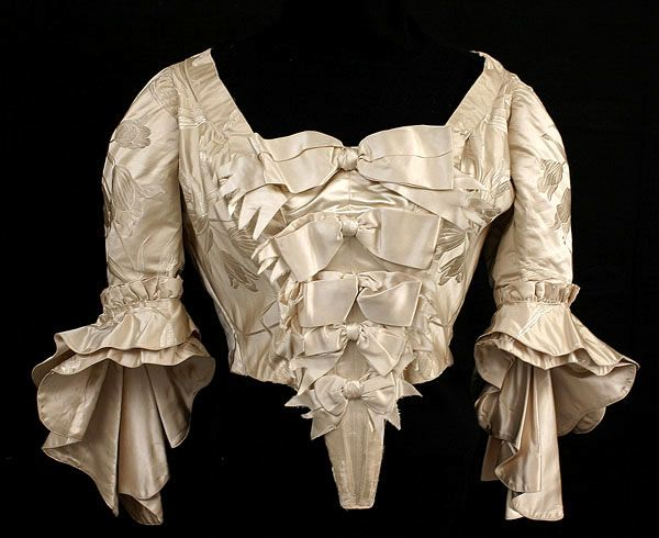 Worth wedding bodice ca. 1897 From Vintage Textile (archived)