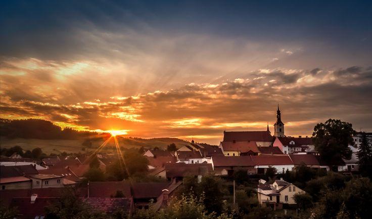 Sunset over Olešnice by Michal Vávra on 500px