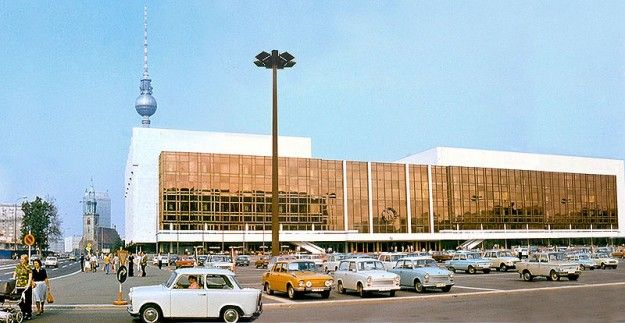The Palast der Republik was a showpiece building in East Berlin, a congress hall as well as a center for public entertainment.