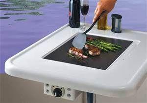 """MarinYaki"" teppanyaki grill table, pedestal model"