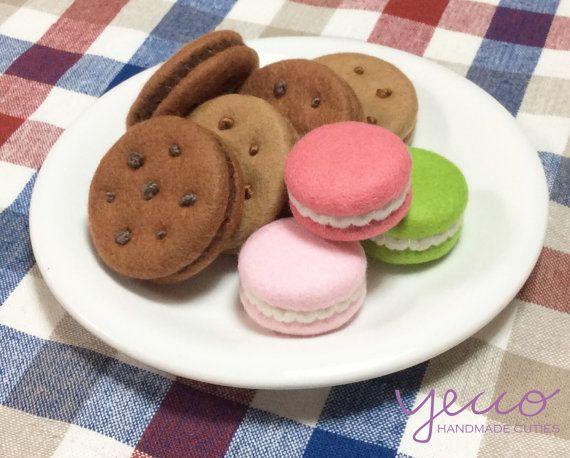 Pdf Pattern Cookies And Macaroons Pattern And Tutorial Felt Play Food Sewing Pattern E Pattern Comida De Juguete Comida De Juguete De Fieltro Y Comida De Sentido