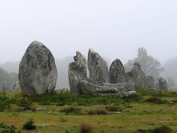 """Megalithic Stones at Menhirs, Carnac, France #landscape #photography"""