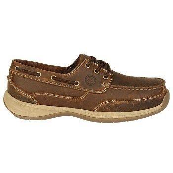 Rockport Works Men's Sailing Club Medium/Wide Steel Toe Boat Shoes (Brown) - 10.5 M