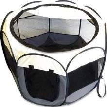 "Royal Pet Inc. Paws Life Portable Dog Pen in Grey 36"""