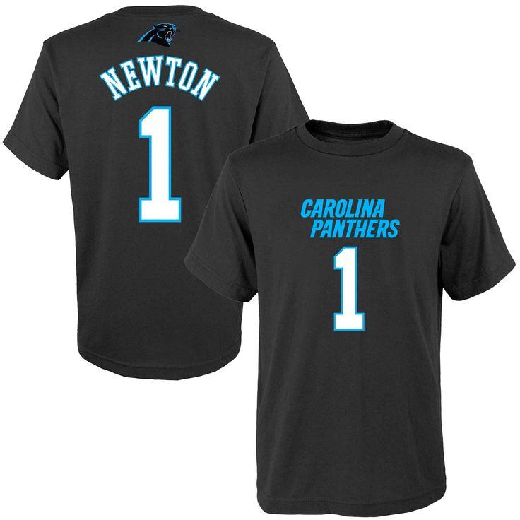 Cam Newton Carolina Panthers Youth Mainliner Name & Number T-Shirt - Black - $19.99