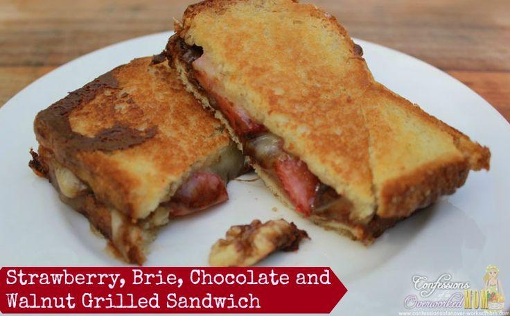 Grilled Sandwich Recipe – Strawberry, Brie, Chocolate and Walnut #sponsored #brunchweek