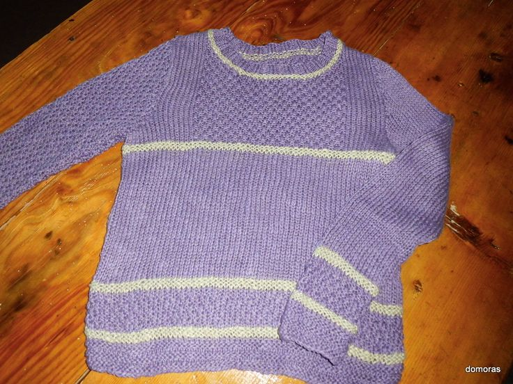 MELINDA, una maglia bella e particulare di cotone spesso per la bimba. Artigianato a maglia di domoras