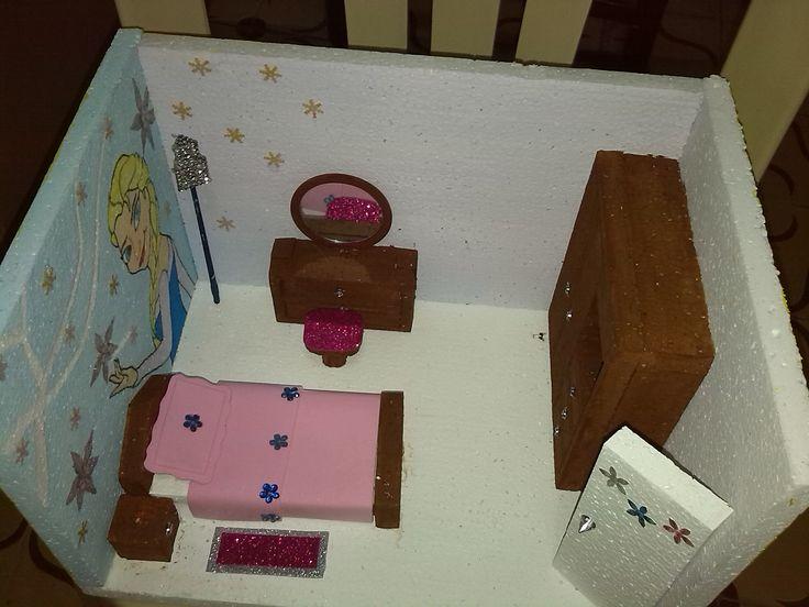Maquetas escolares cuarto infantil maquetas de todo tipo - Como hacer una maqueta de una casa ...