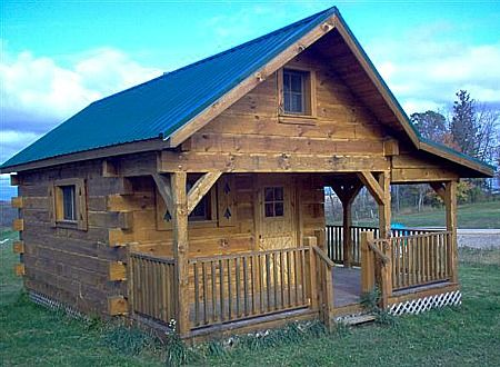 log home storage shed 24x30 log cabin with living area two bedrooms loft and optional. Black Bedroom Furniture Sets. Home Design Ideas