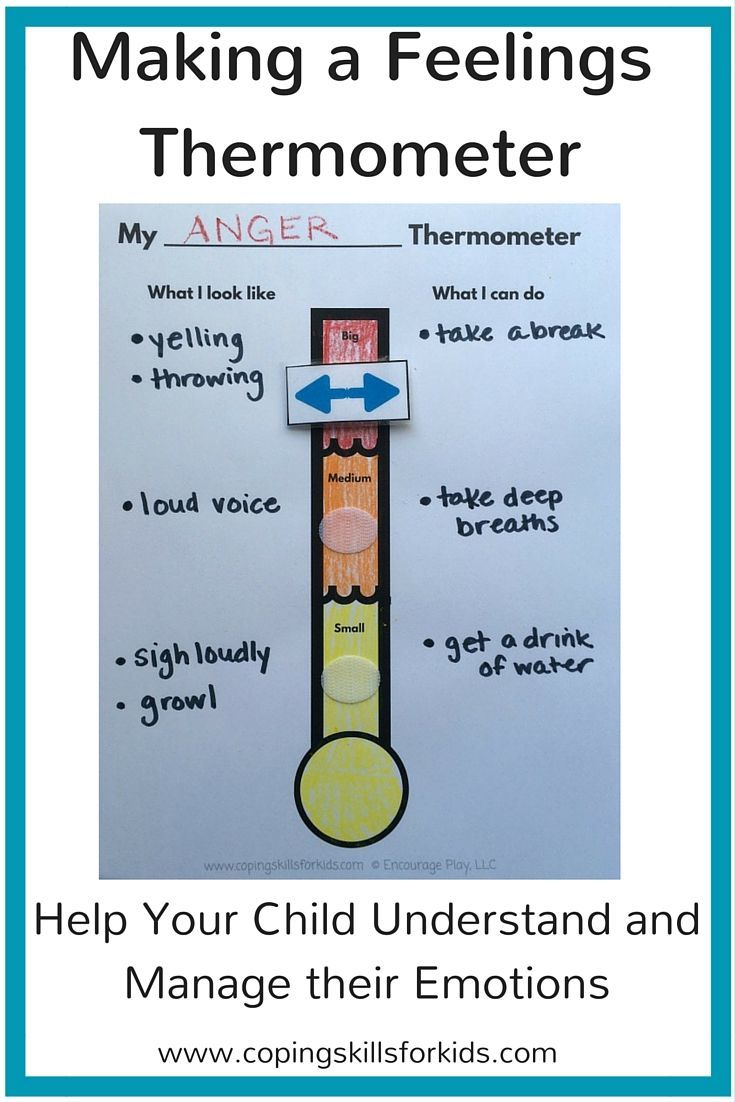 As a counselor, sometimes I work with kids who have a hard time identifying  their feelings, especially the fact that feelings can range from slight to  intense. One of the interventions I use is a feelings thermometer.