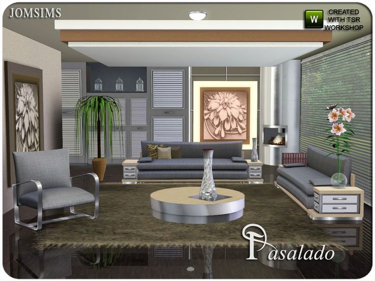 Modern And Classic, With Living Pasalado. Found In TSR Category U0027Sims 3  Living Room Setsu0027