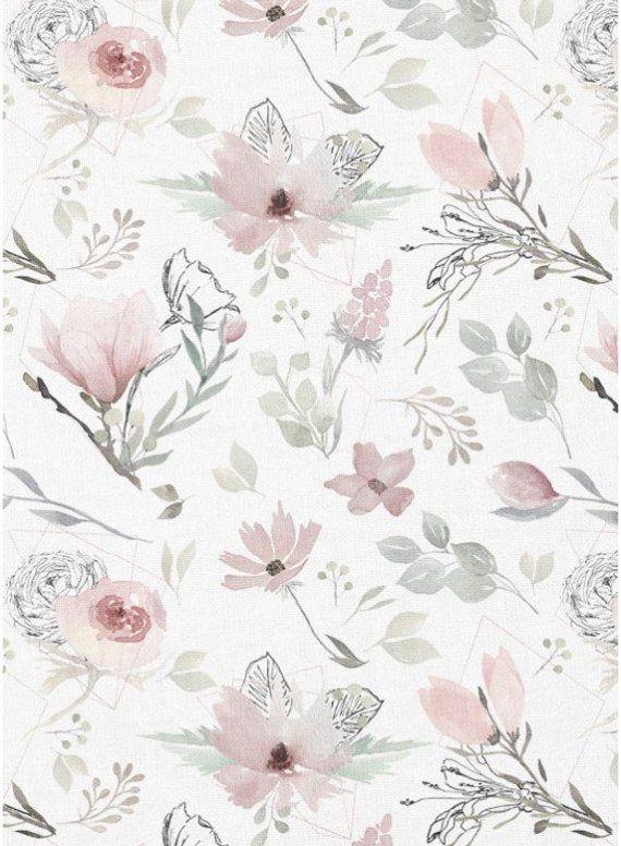Magnolia Baby Girl Blanket Floral Crib Bedding Romantic Floral Baby Bedding Floral Crib Sheet Magnolia Flower