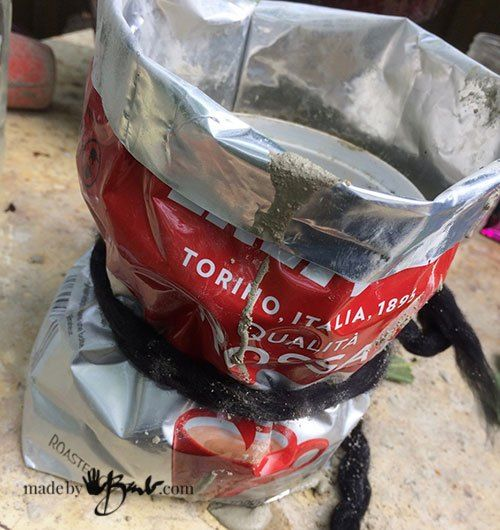 Tied Concrete Bag Planter