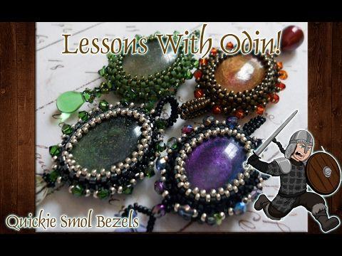 Oval Beaded Cabochon Jewelry Making Tutorial - Lessons With Odin - YouTube