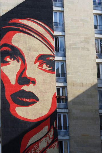 Shepard Fairey « Rise Above Rebel » – Paris 13ème - photo ©Sandrine Ducros - www.street-art-avenue.com