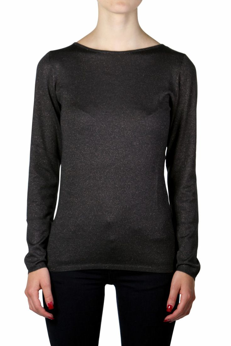 CACHEMIRE BLEND SWEATER WITH GLITTER EFFECT