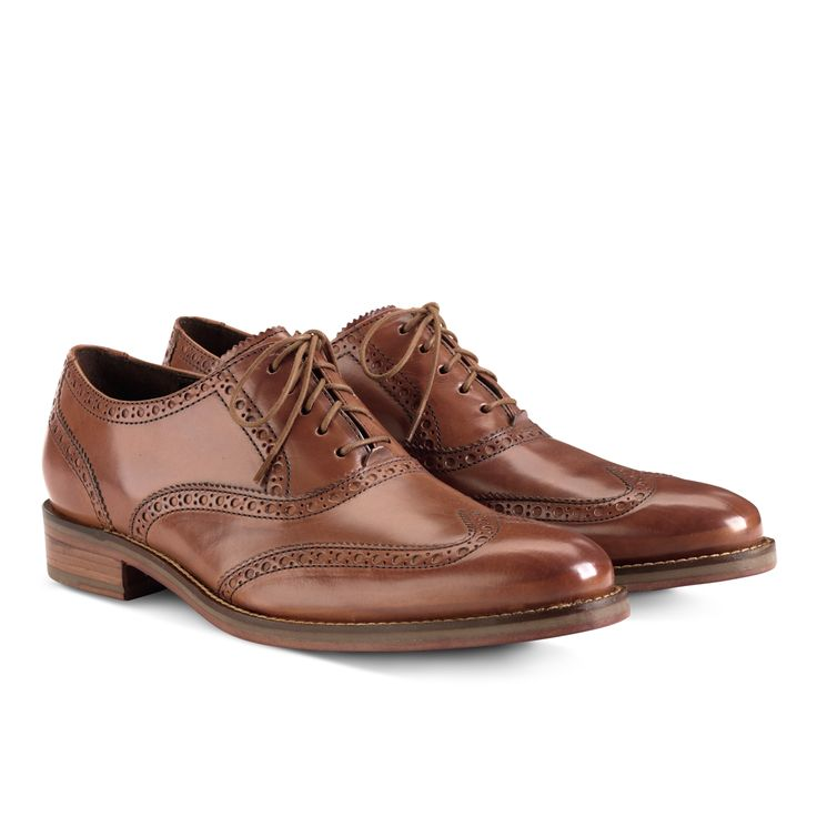 Cole Haan Air Madison Wingtip Oxford in British Tan : ColeHaan.com
