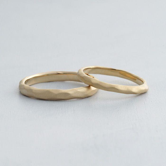 ithマリッジリング:Deserto(デザート) マットな質感、多面体のフォルムの結婚指輪 K18 Gold ゴールド wedding ウエディング