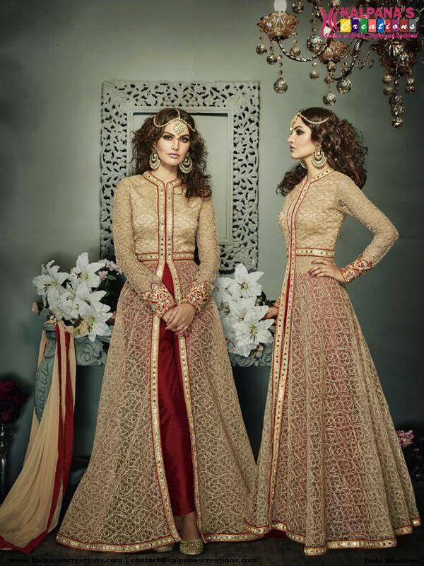 9 besten Indo Western Lehenga style Anarkali Dress Bilder auf ...