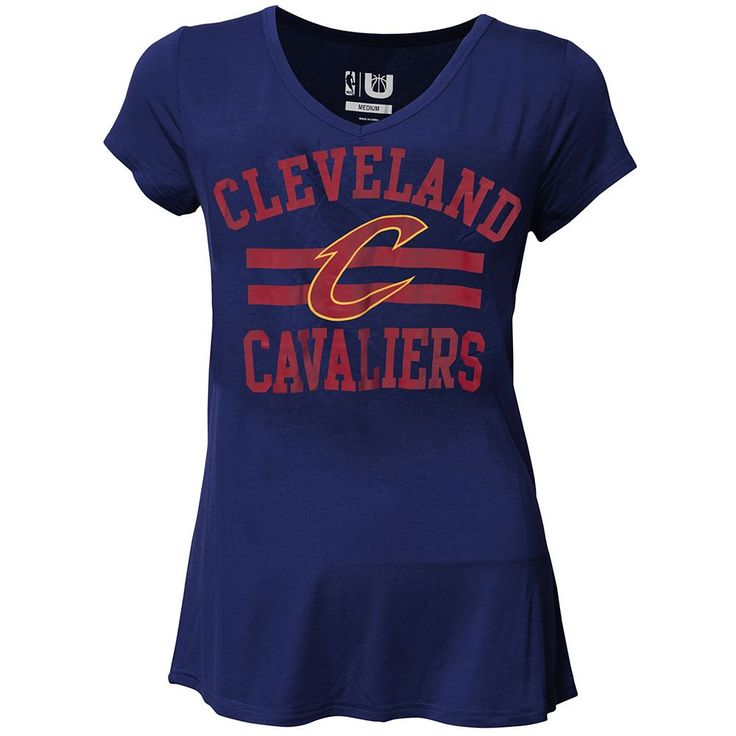 Women's Cleveland Cavaliers Co-Ed Tee, Size: Small, Blue (Navy)