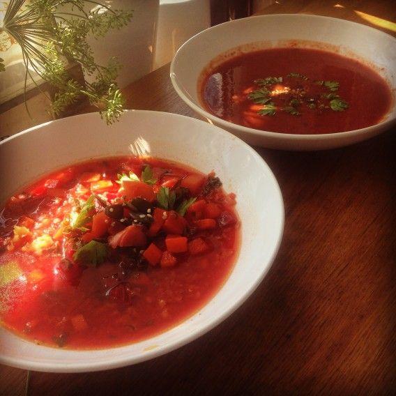 Letní polévka z červené řepy. Foto: Sláma v botách