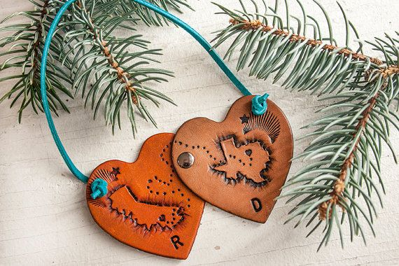 Journey Hearts Leather Ornament  pen pals long by MesaDreams