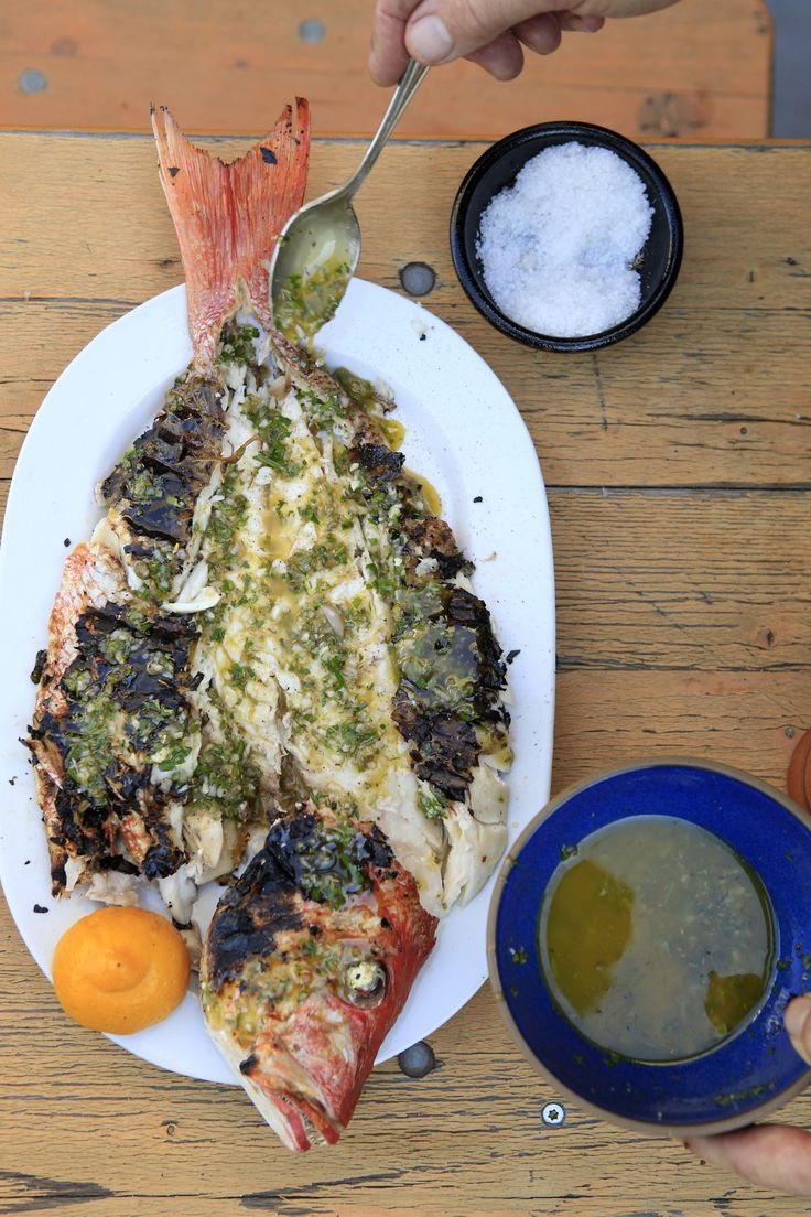 Add some flavor to your grilled fish with this recipe for Kokkari dressing.