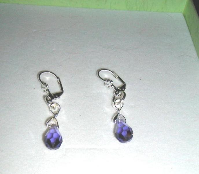 Tanzanite  Passions  Violet  bell earrings. Swarovski Crystal Purple earrings. Bell Earrings. Violet Earrings by JewelleryInspired4U, $19.12 USD