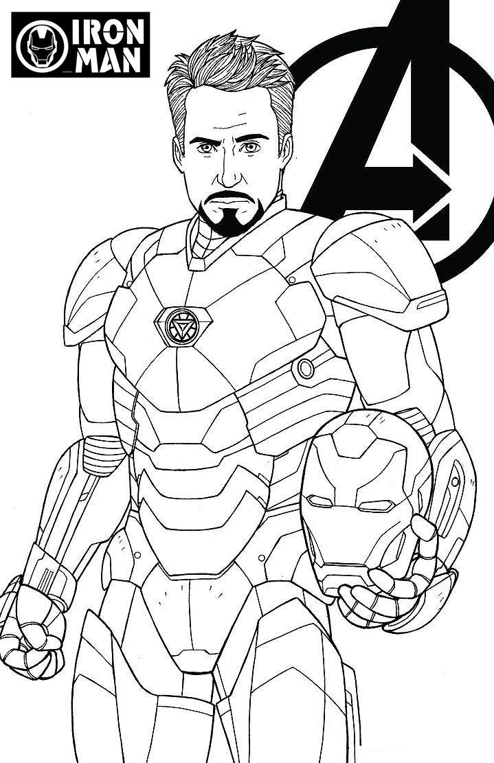 Iron Man Easy Avengers Coloring Pages   Total Update