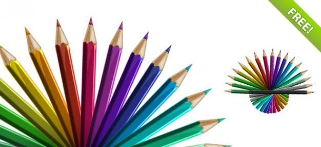 Free Various Colored Pencils Mockup In Psd Colored Pencils Pencil Png Coloured Pencils