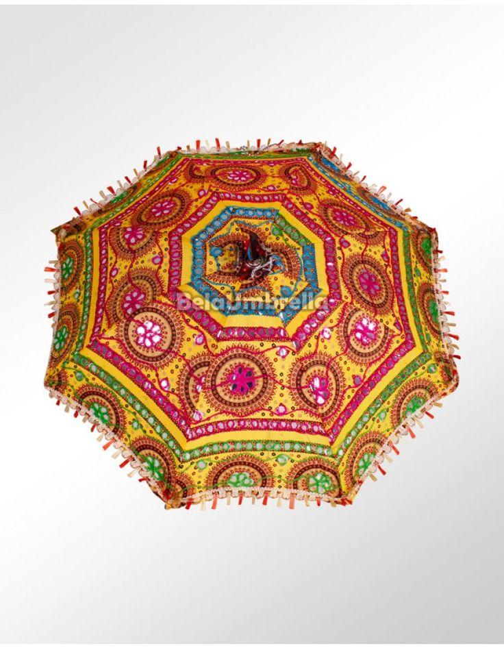 Sombrinha para Decoração importada da India Templo Dourado