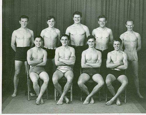 The Gordon Swimming Team 1950 - vintage. Geelong, Australia