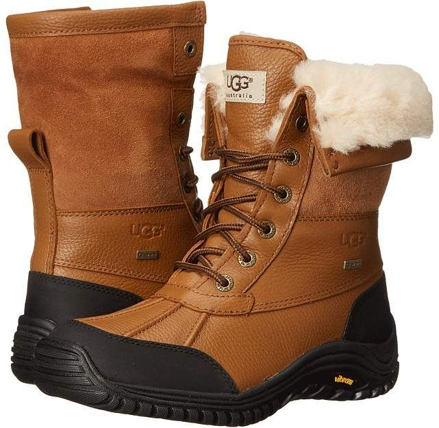 UGG - Adirondack Boot II Women's Cold Weather Boots  Embrace the chill! The UGG Adirondack Boot II gives new life to your everyday look with its sleek style and cozy wear. Waterproof leather and suede combo uppers with a round and reinforced toe. eVent membrane treated uppers provide unparalleled breathability and wind resistance while keeping your feet completely dry.