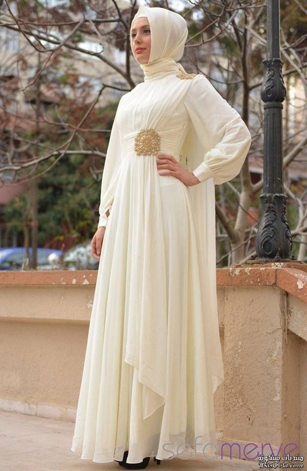 Stunning for evening #hijab #dress #MuslimWedding, www.PerfectMuslimWedding.com