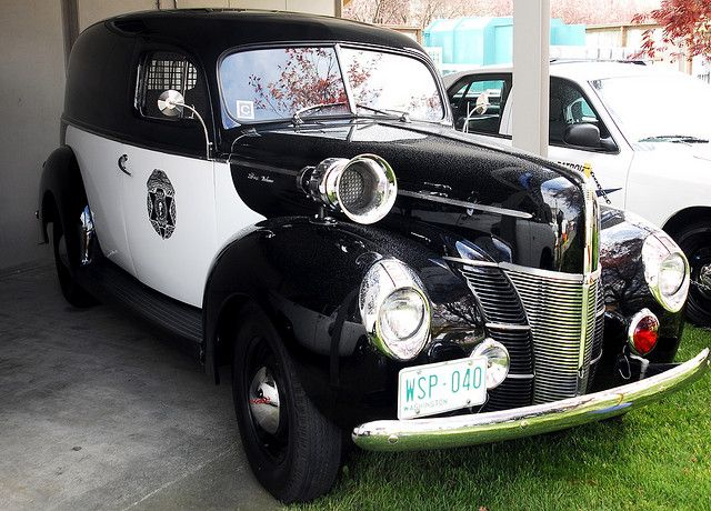 1940 Ford Deluxe Paddy Wagon - Washington State Patrol...the siren is almost as big as the vehicle.....