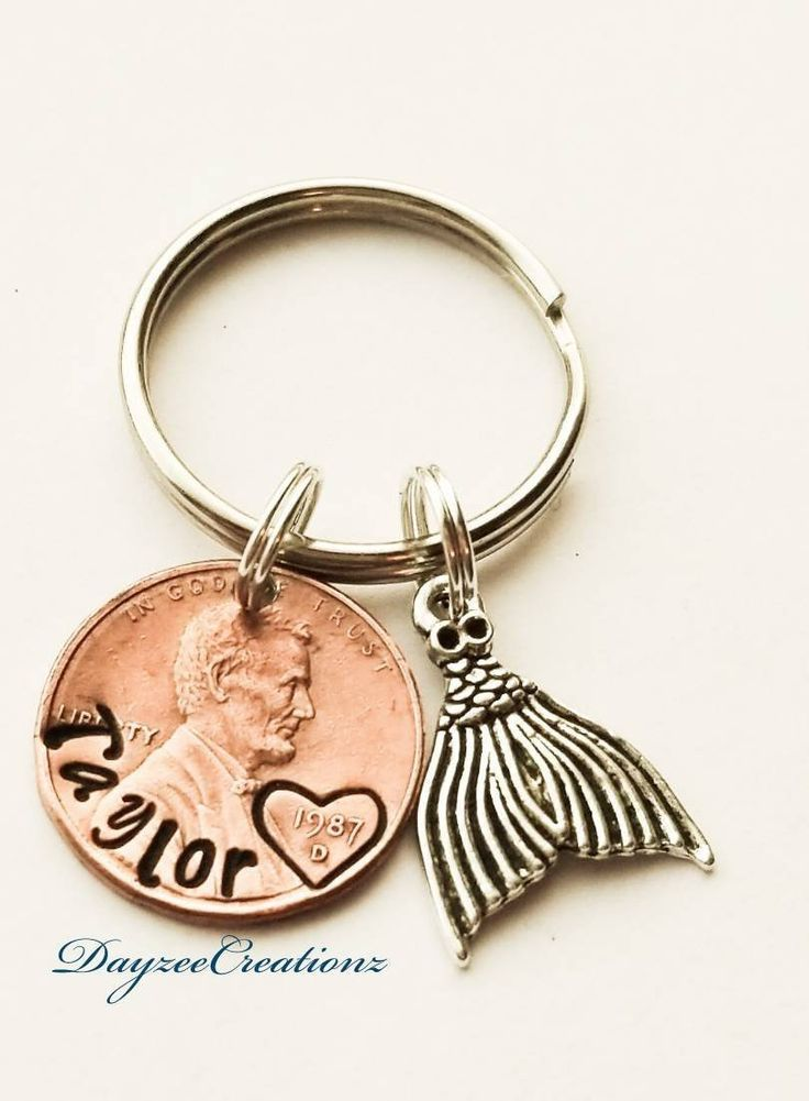 Personalized PENNY Keychain, Name, for Her, Birthday Gift