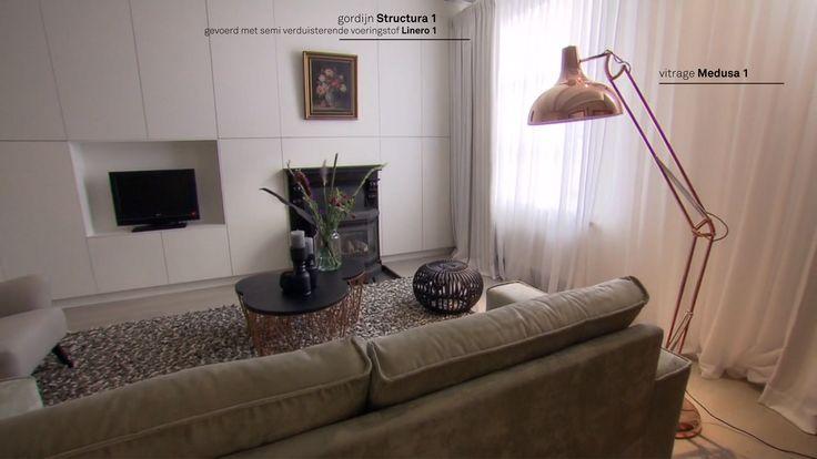 Zachte kleuren en natuurlijke materialen. Remy Meijers voor RTL Woonmagazine. Gordijnen van A House of Happiness.