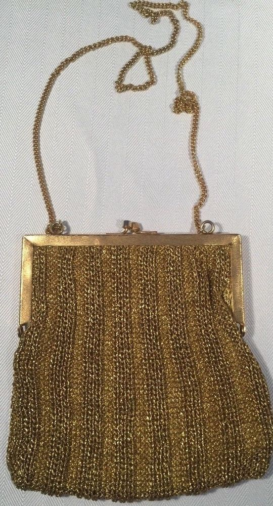 d076d964d08bfc Vintage Delill Hand Made in Italy Gold Purse - Rare and Beautiful  Delill   Purse  CocktailFormalWedding