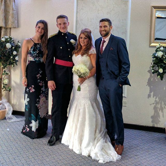 'Massive Congratulations to Mr & Mrs Rowe ❤️😍 lovely wedding thanks for inviting us 😊 🎉💍👰💒 nice event to go to after our long flight home! #wedding #family #congratulations #love #fightingthejetlag' by @cheska_h.  #bridesmaid #невеста #parties #catering #venues #entertainment #eventstyling #bridalmakeup #couture #bridalhair #bridalstyle #weddinghair #プレ花嫁 #bridalgown #brides #engagement #theknot #ido #ceremony #congrats #instawed #married #unforgettable #romance #celebration #wife…