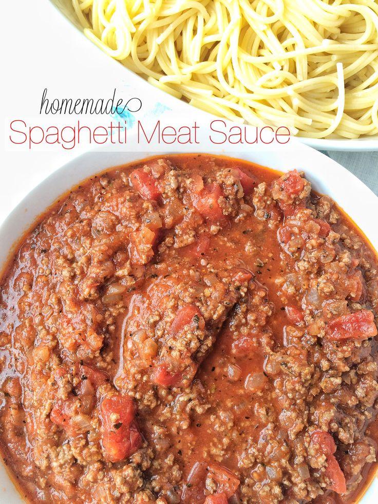 Homemade Spaghetti Meat Sauce- www.togetherasfamily.com