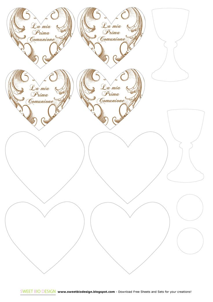 Invito / biglietto d'auguri per Prima Comunione - First Communion Card by SweetBioDesign