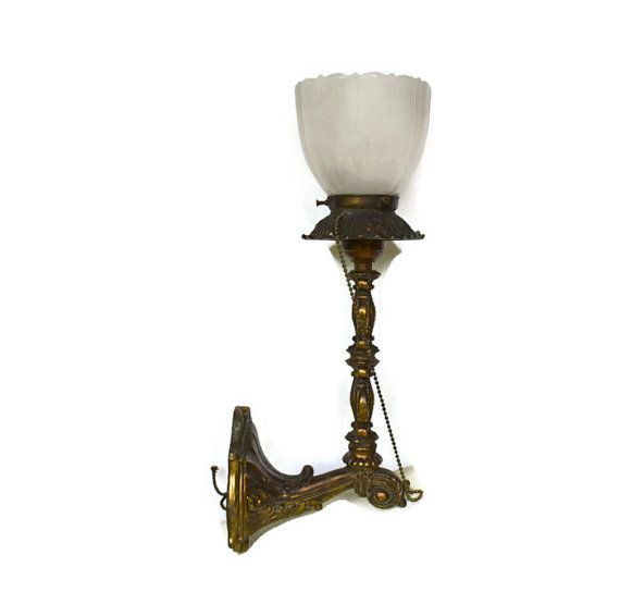 Wall Sconce Light Vintage Brass  Wall Sconce by Vintassentials