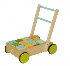 Drewniany wózeczek 46x30,5x47 cm - kolekcja Balthazar, Moulin Roty BABYDECO – materace i łóżeczka dla dzieci i niemowląt