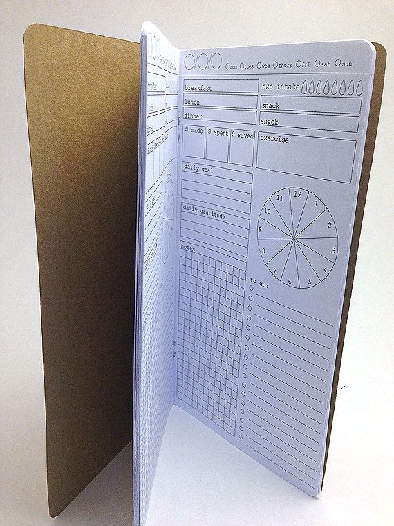 This Daily Organizer insert helps you plan and recap your day. Works great as a stand alone or in a travelers notebook. Features one page per