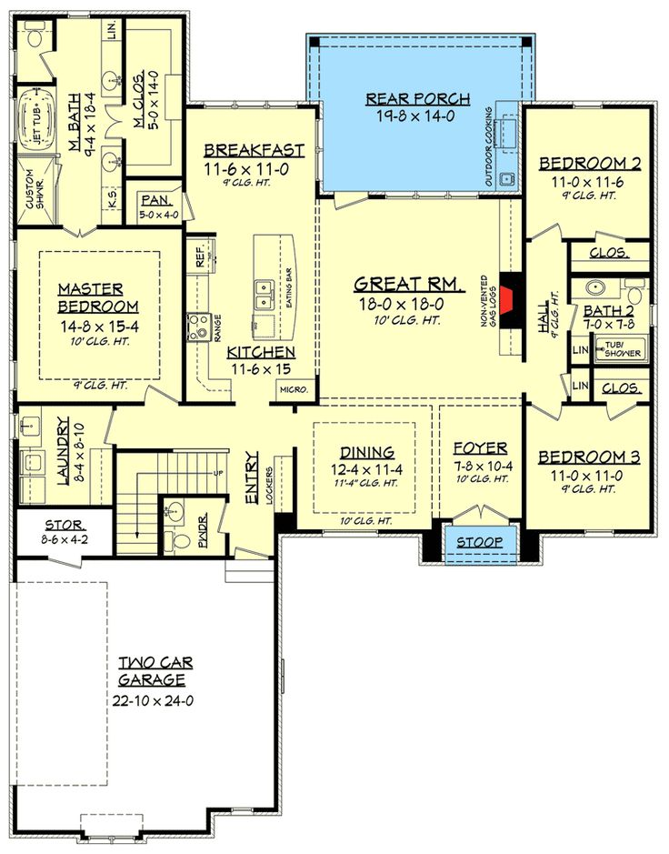 House Plans Over 1800 Sq Ft